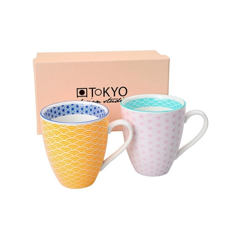 MUG STAR WAVE SET 2 AMARILLO/MORADO CLARO
